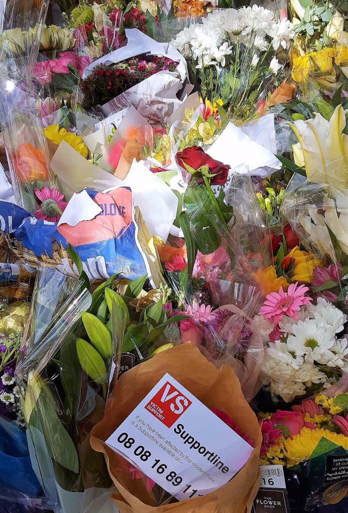 Flowers Borough Market and London Bridge